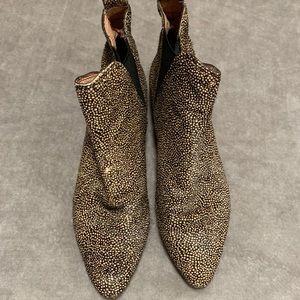 Women's madewell animal print booties 7